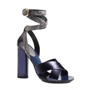 Gucci Candy Genuine Python Leather Sandal Heels 37